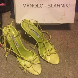 Authentic Manolo Blahnik Strappy Heels with box